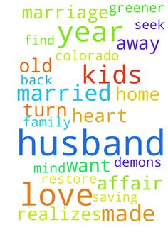 I have been married for 22 1/2 years to my husband. - I have been married for 22 1/2 years to my husband. We have 3 kids ranging from 9 years old to 24 years old. He has been having an affair for 1 year. The women he has been having an affair with knows he is married and has kids. I love my husband and have been fighting to saving my marriage since March of 2015. He has turn away from me, our kids and God. Please pray God with convict his heart and show him the grass is not greener on the…