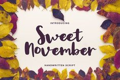 Sweet November script by Daria Bilberry on @creativemarket