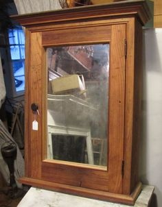 Medicine Cabinets, Bathroom Medicine Cabinet, Armoire, Projects To Try, Antiques, Wood, Furniture, Ideas, Home Decor
