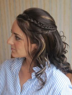 Half-up half-down with plaits