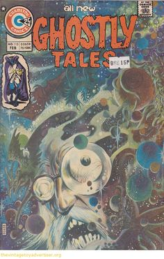 tom sutton charlton | Cover art by Tom Sutton. USA. Charlton Comics. All New Ghostly Tales ...