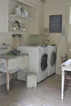 Faded Charm's ~Laundry Room Reveal~ Makes me wish I had a laundry room