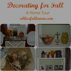 Today I am sharing a peak inside my home for my fall decor home tour. Come take a detailed look inside my home for lots of fun decorating tips and ideas. What's your favorite way to decorate for fall?