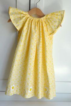 Angel Sleeve Dress for Easter    #sewing #easter #dress