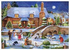 Idyllic Christmas Puzzle, 1000-Piece Ravensburger…
