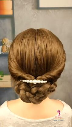 Hairdo For Long Hair, Bun Hairstyles For Long Hair, Work Hairstyles, Updo Hairstyles Tutorials, Hairdos, Hair Tutorials For Medium Hair, Hair Updos For Medium Hair, Medium Hair Styles, Hair Upstyles