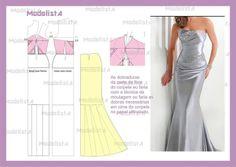 axelbandslös klänning