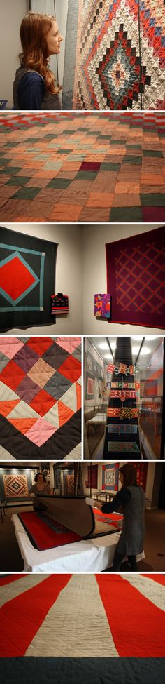 Amish quilts & Esprit  via Sally Jane Vintage