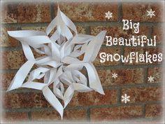 How to make big beautiful paper snowflakes.