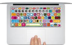 MacBook Social Media Keyboard Cover