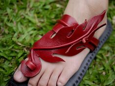 Leather SandalsFire by CLAMPCLAMP on Etsy,
