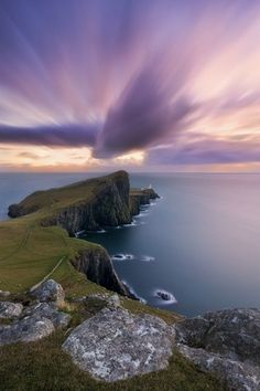 Isle of Skye, Scotland.; from the look of the sky I know why they named it this:)