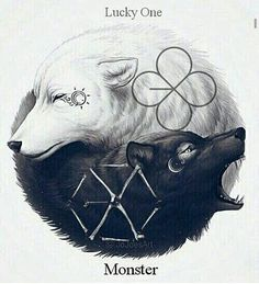 If you wanna, take a look at my 'EXO - Lucky One - Monster' - Board for more gifs, fanart and pics! ♥ Ok fAm bUt this is awesome. It kinda makes you wonder if their concept is gonna be wolves again [#kpopmemes #kpopmeme #exo #exol #kpopmacros #lfl #f4f]