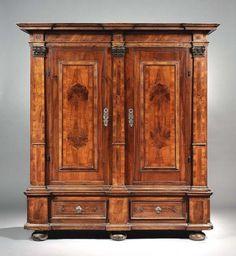 Handsome antique walnut armoire