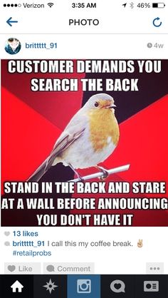 Retail robin -- I have to admit I actually did this a lot!! Whoops..... ~K