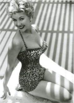 Vintage Leopard Swimsuit, its wearer demonstrating the importance of being consistent in working out.
