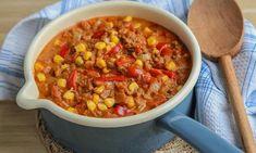 Tacogryte med kjøttdeig og cheddar | ⌛ 30 min | EXTRA - Recipe Boards, English Food, Tex Mex, Cheddar, Chili, Recipies, Food And Drink, Lunch, Dinner