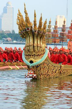 Royal Barge Procession Bangkok , Thailand  .must see to appreciate.