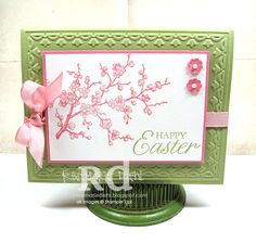 stampin up easter cards | for the easter card i used the easter blossoms stamp