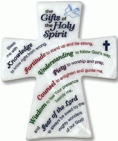 Catholic retail store Leaflet Missal Company now carries the Gifts of the Holy Spirit Cross. Find this and other great Confirmation and sacramental gifts.