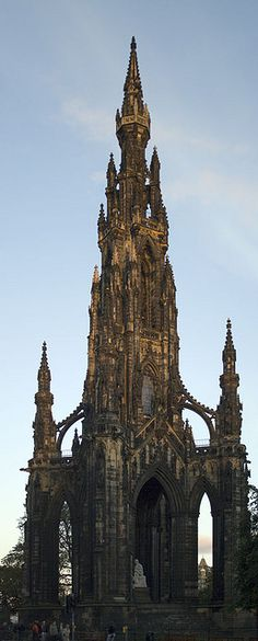 Scotts Monument, Edinburgh, Scotland..underneath this there was a Scottish man dressed in a kilt playing the bagpipes!