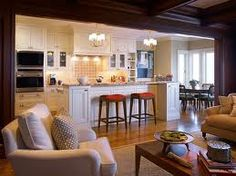 Open Floor Plan For Addition Kitchen Interior Eclectic Designs