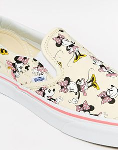 7aaeaaf621 Image 4 of Vans x Disney Classic Slip-On Canvas Plimsolls Shop Vans