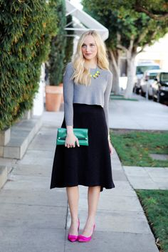 Comfortable Holiday Essentials; How to Style a Full Skirt