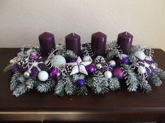 Tischgesteck Advent Weihnachtsgesteck Adventskranz Lila-Weiss Tilda   eBay