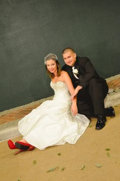 just hanging out. #redshoes #wedding
