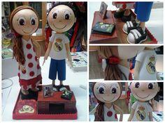 Fofucha pareja de novios #fofucha #fofuchapersonalizada #manualidades #handmade #novios