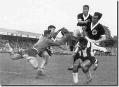 Paraguay 3 Scotland 2 in 1958 in Norrkoping in Group B at the World Cup Finals.