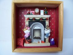 Miniature Scenes in Shadow Box | Shadow Mini Boxes-wooden frames-Miniature-Pyrography - Shadow Boxes ...