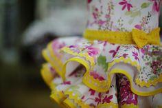 Volantes vestido de flamenca niña
