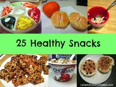 25 Healthy Snacks via Levels Food and Fitness