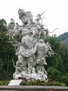 Statue of Kumbhakarna, Botanical Gardens, Bali, Indonesia. (Photo by Josh)