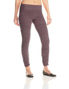 a3c804b1d718c Mishu Womens M056A Rouched Leggings Medium Gray ** Want additional info?  Click on the