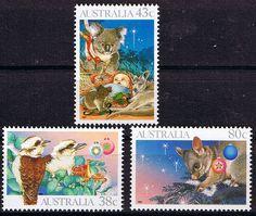 Australia 1990 Christmas Set Fine Mint SG 1272/4 Scott 1194/6 Other Australian Stamps HERE