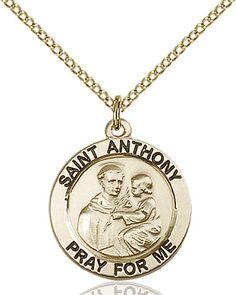 St. Anthony of Padua Pendant (Gold Filled) by Bliss | Catholic Shopping .com