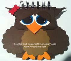 Ollie the Owl Shaped Post it Note holder - KintaKards Creative Card & Gift Packaging