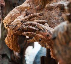 #javiermarin, #javiermarinescultor. En el estudio. #escultura de #barro. #clay #sculpture.