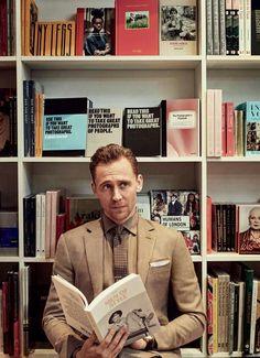Beautiful man and books