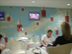 Manicure room at Bliss Spa. NYC.