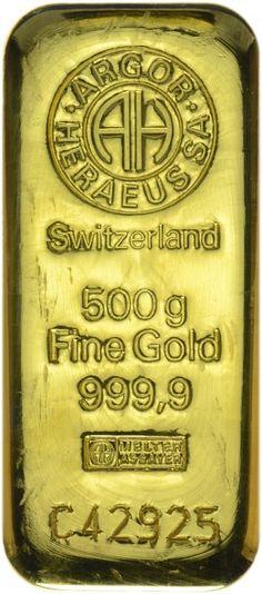 Argor-Heraeus Goldbarren 500 g 9999/1000