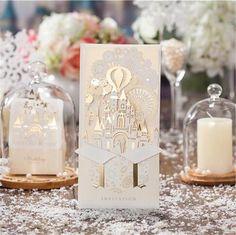 Wedding Invitation Card Baby Shower Elegant Laser Cut