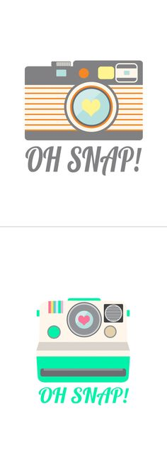 "'oh snap!' free camera printables (Both prints are sized 8×10"" but would print well in a smaller size for paper crafts)"