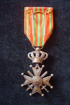 WW1 Belgium Military Medals Croix de Guerre with 2 Palms Certificate   eBay