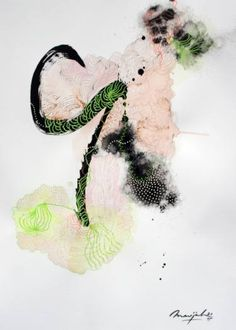 "Saatchi Art Artist Marijah Bac Cam; Painting, ""Organic Lily's Garden IV"" #art"