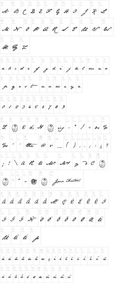 The Jane Austen font. Gorgeous, leaning script--perfect for my next tattoo!