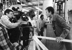 Leonard Nimoy directs friend and cast mate DeForest Kelley in Star Trek IV: The Voyage Home.